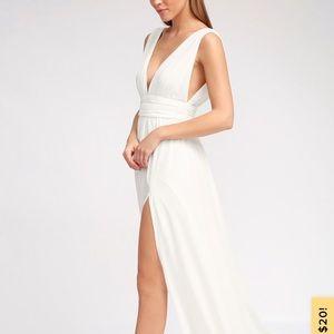 Lulu's Heavenly Hues white maxi dress